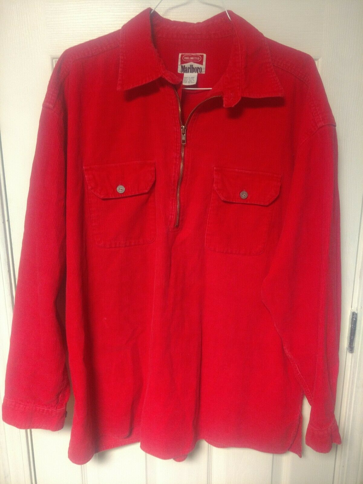 MarlbGold unlimited corduroy pull over XL