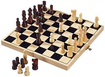 Hochwertige Ausführung Analytisch Legler Schachspiel Aus Holz Aufklappbare Holzkasse Eine GroßE Auswahl An Waren