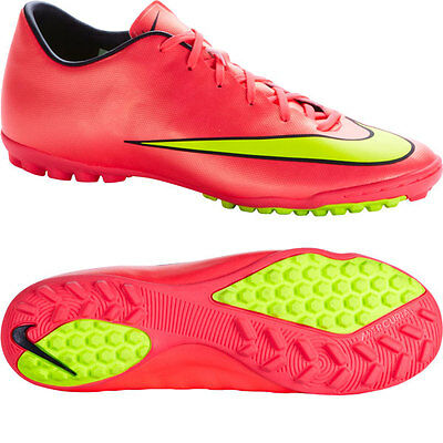 new product db261 00e55 NIKE MERCURIAL VICTORY V TF INDOOR SOCCER TURF FUTSAL CR7 SHOE Hyper  Punch/Metal | eBay