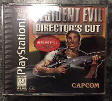 RESIDENT EVIL Directors Cut PlayStation 1 PS1 Black Label Complete W/ RE2 Demo