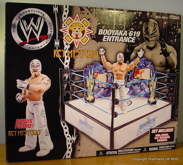 WWE WWF JAKKS RARE Booyaka 619 Entrance Wrestling Ring + Bonus Rey Mysterio MIB