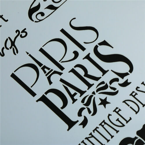 paris layering stencils for walls painting scrapbooking stamping album de HC