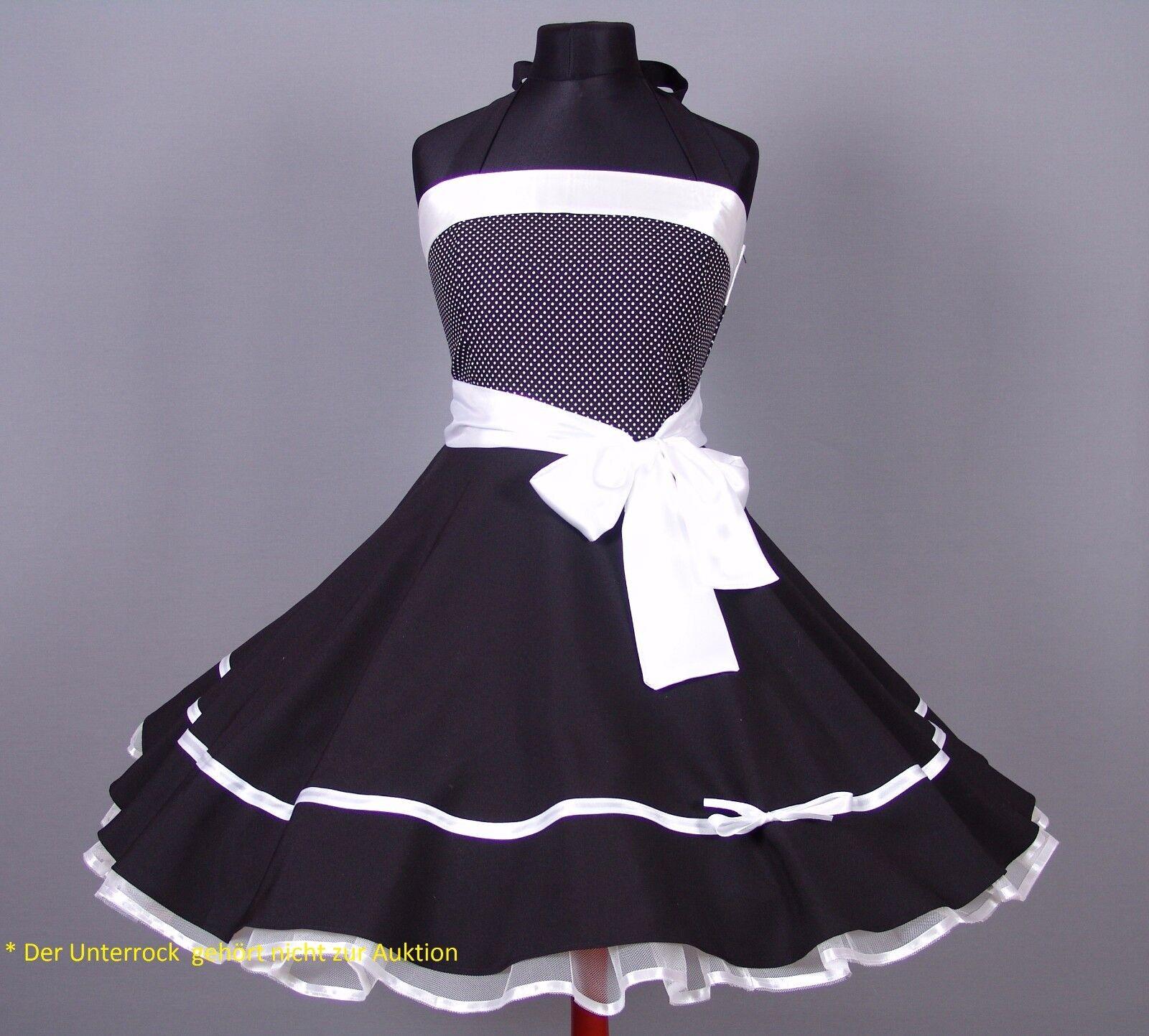 Kleid 50er Jahre Petticoat Abiball, Abend,Konformation Gr.38-42 Schwarz weiß