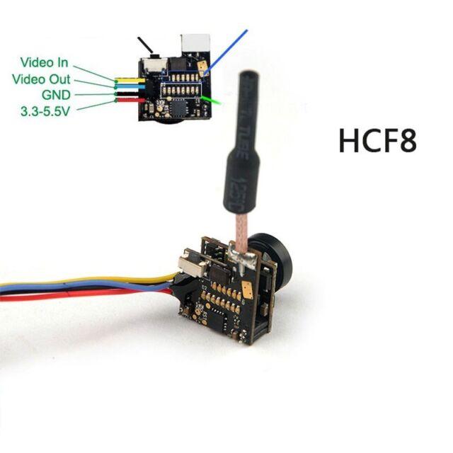 HCF9 FPV Camera 5.8G w//RG178 Antenna 48CH 25mw Transmitter 700TVL 1//4 CMOS 120°