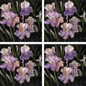 Iris-Art-Accent-amp-Decor-Tile-Set-Cook-Floral-Ceramic-Backsplash-CC005AT