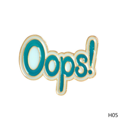 OOps Fashion Pins Cartoon Pin Fun Badge Brooch Metal  Enamel DIY UK  2 x 3cm
