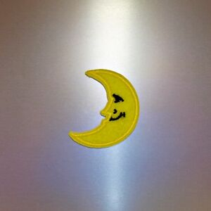 Crescent-Moon-Patch-Iron-On-Badge-Embroidered-Motif-Kids-Cute-Applique