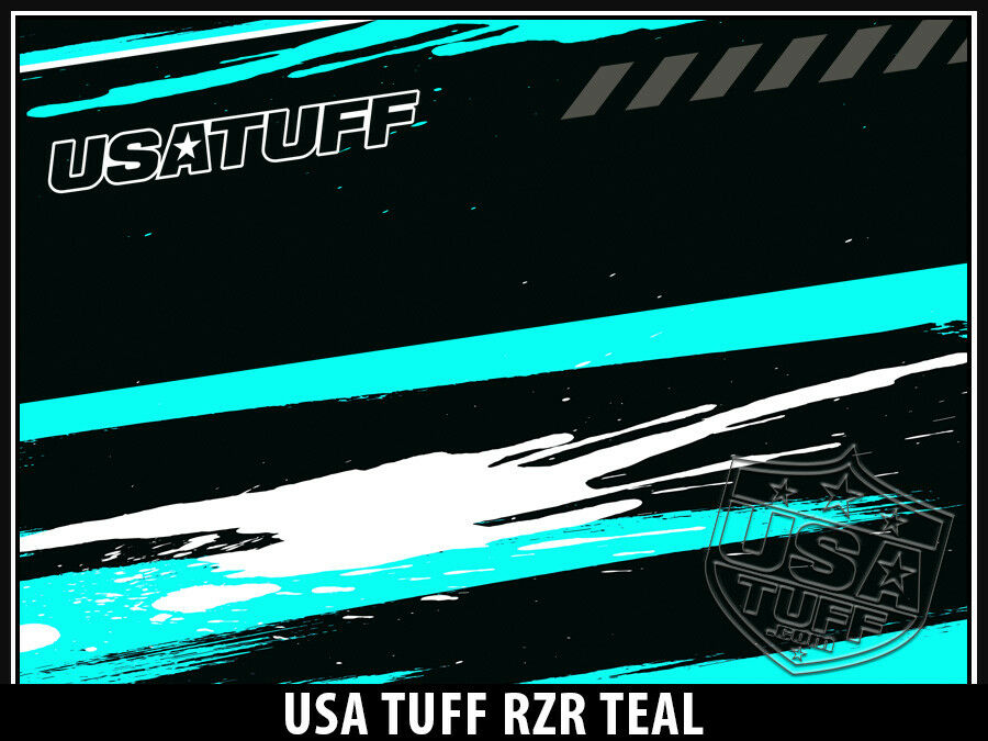 USATuff Custom Cooler Cooler Cooler Decal Wrap fits YETI Tundra 65qt FULL RZR SxS Teal 856618