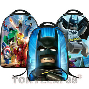 Children Kids Boys Batman The Avengers School Bag Shoulder Backpack ... c4e0cf3d0c