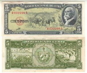 Billet Original Signe Che Guevara 5 Pesos 1960 Lfdigiep-07233543-574772948