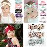 Newborn Baby Toddler Girls Bow Flowers Hair Band Turban Headband Headwear Gift