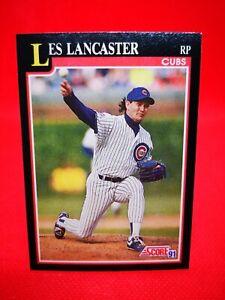 Score 1991 carte card Baseball MLB US NM+/M Chicago Cubs #293 Les Lancaste