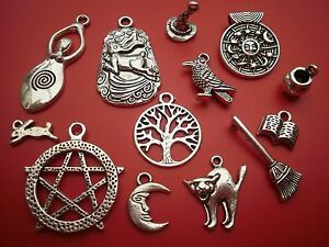 50 different wholesale wicca wiccan pagan gothic charms pendants 50 different wholesale wicca wiccan pagan gothic charms aloadofball Gallery