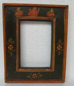 Vintage Old Hand Carved Unique shape Wooden Picture Photo Frame
