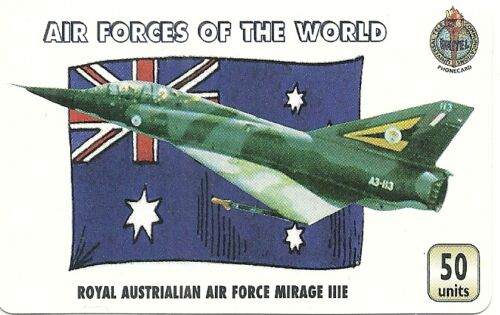 RARE / CARTE TELEPHONIQUE - ROYAL AIR FORCE AUSTRALIA MIRAGE / PAPER PHONECARD