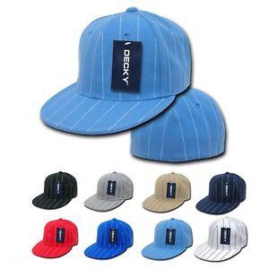 534491975c488 Pin Stripe Pin Striped Pinstriped Fitted Flat Bill Baseball Hats ...