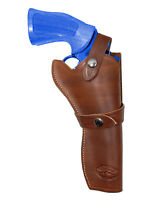 Barsony Brown Leather Western Style Gun Holster Charles Daly 6 Revolvers