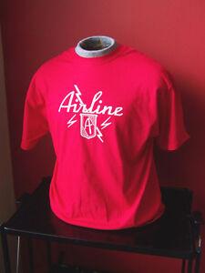 Enthousiaste ** Nouveau Vintage ** Airline Guitar T-shirt Tailles S-xl Et Toutes Les Autres Tailles-afficher Le Titre D'origine RéTréCissable