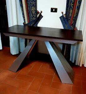Tavoli Consolle Trasformabili.Dettagli Su Tavolo Consolle Tavolino Allungabile Trasformabile Tavoli Salva Spazio
