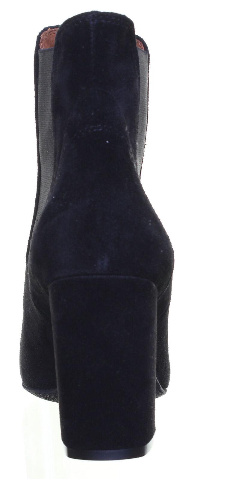 Justin Reece Sock Fitted 100% Real Leather Chelsea Block Block Block Heel Boot df57fd