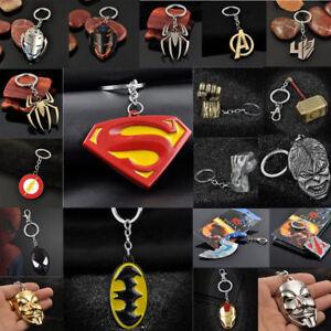 Creative-Metal-Keychain-Lover-Heart-Keyfob-The-Avengers-Marvel-Character-Keyring