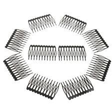 "5x Golden 18 Teeth Hair Comb Clip Slide Hairpin DIY Jewelry Making 2.7x1.5/"""