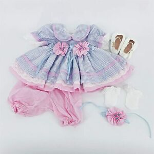 Reborn Baby Doll Girl Clothes For 24 Reborn Toddler Accessories Newborn Dress Ebay