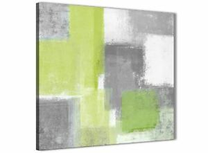 Image Is Loading Lime Green Grey Bathroom Canvas Wall Art Accessories