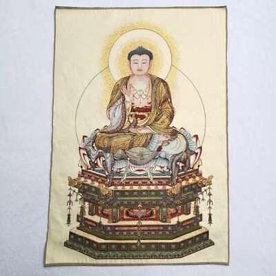 "36/""Tibet Tibetan Cloth Silk Rulai Buddhism Buddha Tathagata Tangka Thangka Mural"