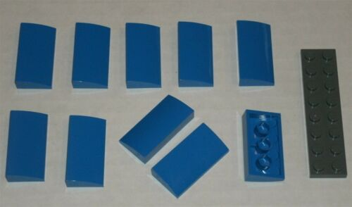 4651237 Brick 88930 LEGO NEW 2x4x2//3 Blue Curved Slope 10x