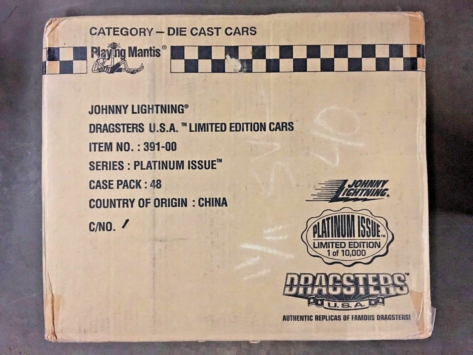 MASTER CASE of 48 Cars - Johnny Lightning Dragsters USA Platinum Issue 1997 VHTF
