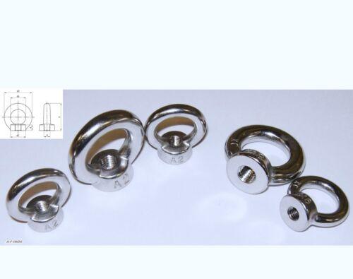 Ösenschrauben Augenschrauben RING-SCHRAUBEN Schraubhaken  Augschraube Metrisch