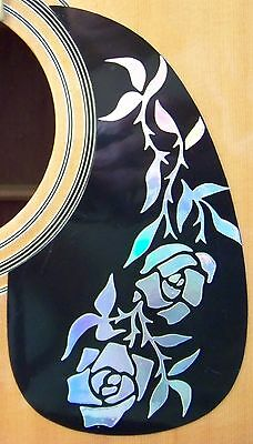 Guitar Pick Guard Decal Vine of  Roses Decal /Sticker