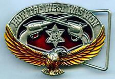 Gürtelschnalle Buckle Colt  Peacemaker Revolver Eagle US Marshal Western Sheriff