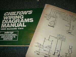 1989 CADILLAC BROUGHAM OVERSIZED WIRING DIAGRAMS SCHEMATICS MANUAL SHEETS  SET   eBayeBay