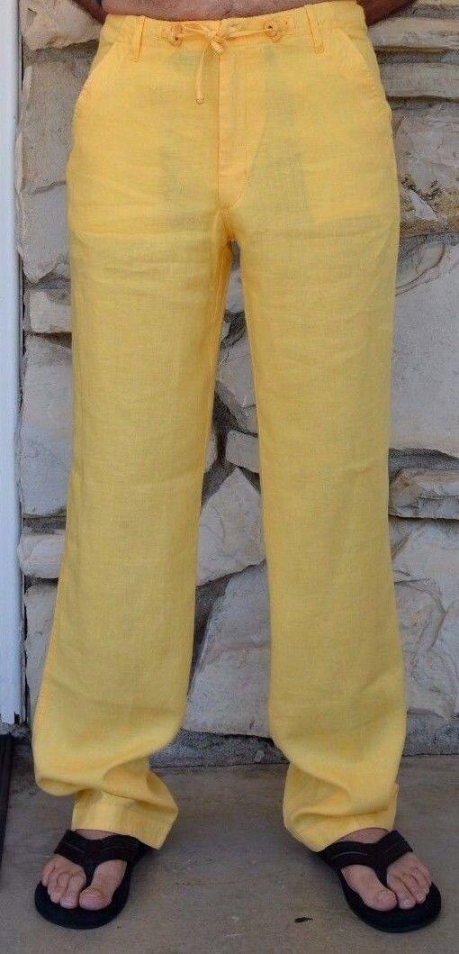 Pantalones Ropa de Jugara Amarillo para hombre-Cadena de  empate destino Bodas  grandes ofertas