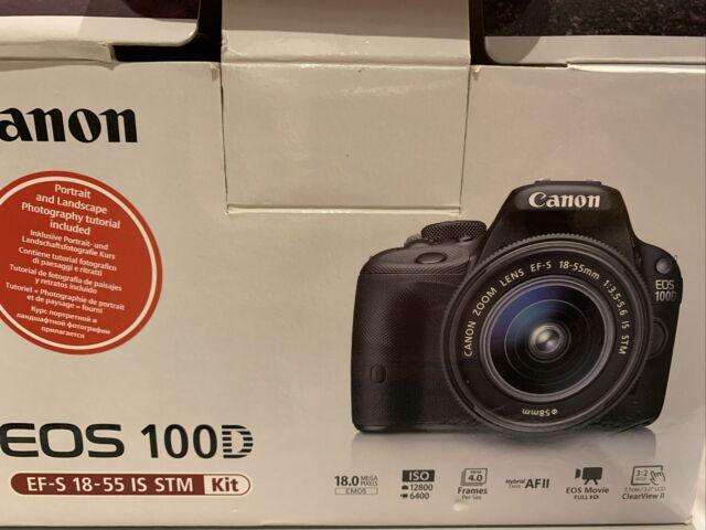 Canon EOS 100D 18.0 MP Digital SLR Camera-Black (Kit Avec EF-S 18-55 mm IS STM