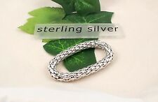 Sassi SI-AR000787 925 Sterling Silver Expanding Stretchable Fope Style Bangle