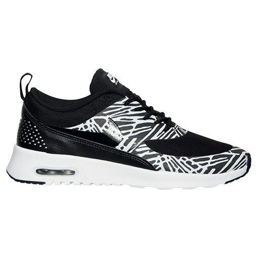New Nike Women's Air Max Thea Print Shoes (599408-010)  Black/White/Met Silver