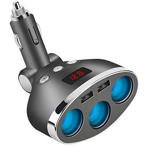 AOGUERBE Accendisigari Auto Adattatore Caricabatteria da USB Splitter...