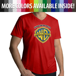 If-You-See-Da-Police-Warn-A-Brother-Funny-Cool-Parody-Mens-Tee-V-Neck-T-Shirt