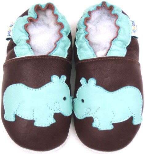 Jinwood Soft Sole Baby Shoes Toddler Kid Children Boy Infant Rhino Mocassin 0-6M