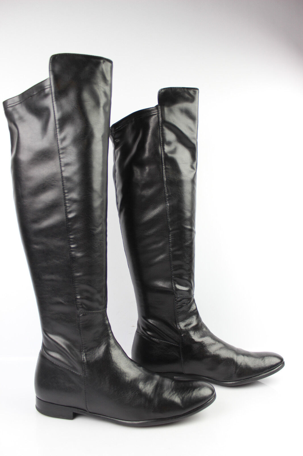 Boots LINEA AZZURRA Leather way Strechy and Black T 39 VERY GOOD CONDITION