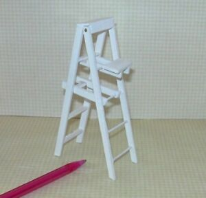 Phenomenal Details About Miniature Folding White Wood Step Ladder 5 Tall Dollhouse Miniatures 1 12 Short Links Chair Design For Home Short Linksinfo