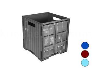Werkhaus Papierkorb Container farbig Mülleimer Abfalleimer Mistkübel Abfallkorb