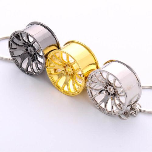 2018New Creative Wheel Hub Rim Model Man/'s Keychain Car Key Chain Cool Gift Hot