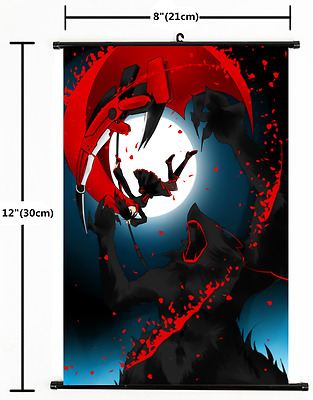 RWBY Ruby Anime Wall Art Home Decoration Scroll Poster 24x36inch