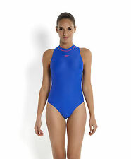 "NEW Speedo Lycra Hydrasuit Swimsuit UK/US 34"" High Neck Zip Back Badeanzug D38"