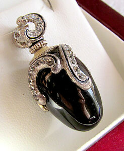 SALE-GORGEOUS-RUSSIAN-PENDANT-MADE-OF-SOLID-STERLING-SILVER-925-GENUINE-ONYX