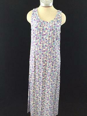 Carol Anderson California dress womens size M medium blue floral full length